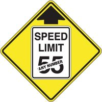 Semi-Custom Reduced Speed Ahead Sign