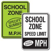 Semi-Custom School Zone Speed Limit Signs