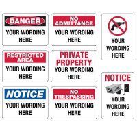 Semi-Custom Security Signs