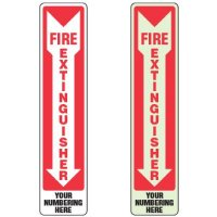 Semi-Custom Slim-Line Fire Extinguisher Sign