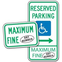 Semi-Custom Maryland Handicap Parking Signs