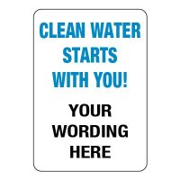 Semi-Custom Stormwater Management Signs