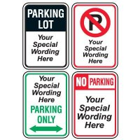 Semi-Custom Worded Signs - General Parking Lot