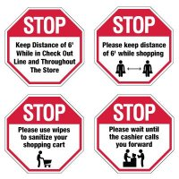Semi-Custom Workplace Safety Signs - Stop Signs