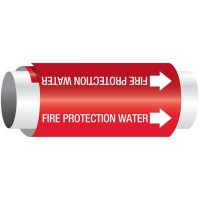 Fire Protection Water - Setmark® Snap-Around Pipe Markers