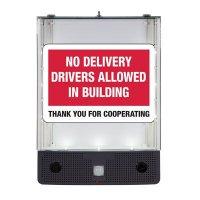 Seton Safety Sign Alerter Kit - No Delivery Drivers Allowed Inside