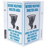 Severe Weather Bilingual V-Style Sign