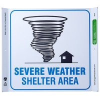 Severe Weather Shelter Corner Sign