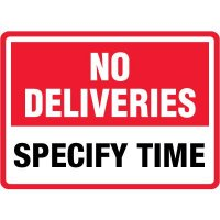 Semi-Custom No Deliveries Sign