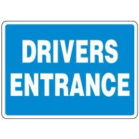 Shipping and Receiving Signs - Drivers Entrance
