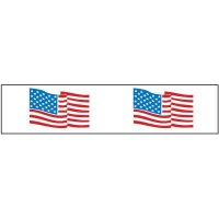 American Flag Shipping Tape Nadco PPW-2-55FL