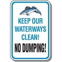 Keep Waterways Clean Sign