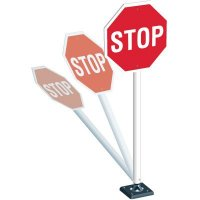 "STOP - 24"" H x 24"" W Plastic Engineer-Grade Traffic Control Sign System"