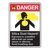 Silica Dust Hazard Exposure Can Cause Cancer- Silica Safety Signs