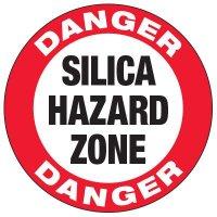 Silica Hazard Zone - Anti-Slip Floor Decals