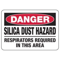 Silica Dust Hazard Use Tools With Water Feed - Silica Safety Signs