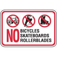 No Skateboards Sign