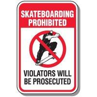 Skateboarding Prohibited Sign