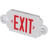 Compact Exit Sign With Emergency Lights