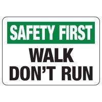 Walk Don't Run Sign