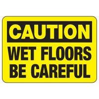 Caution Wet Floors Sign