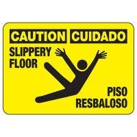Bilingual Caution Slippery Floor