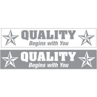 Slogan Mirror Labels - Quality Begins With You