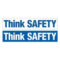 Slogan Mirror Labels - Think Safety