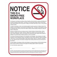 Smoke-Free Workplace Policy Poster