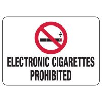 No Smoking Signs - Electronic Cigarettes Prohibited