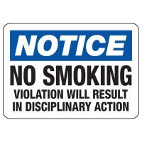 Notice No Smoking Sign