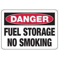 Fuel Storage No Smoking Sign