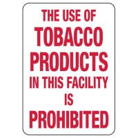 Tobacco Use is Prohibited Sign