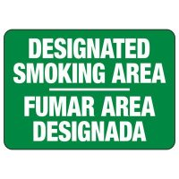 Bilingual Designated Smoking Area Sign