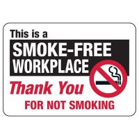 Smoke-Free Workplace Sign