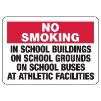 No Smoking School Areas Sign