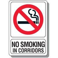No Smoking In Corridors Sign
