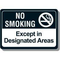No Smoking Except In Designated Areas Sign