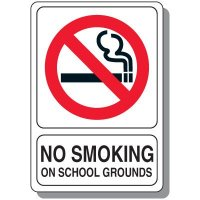 No Smoking On School Grounds Sign