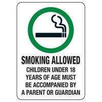 Colorado Smoke-Free Workplace Law Signs - Smoking Allowed