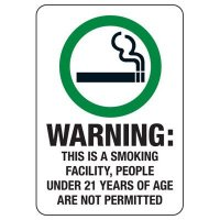 ID Smoke-Free Workplace Law Signs - Warning Smoking Facility