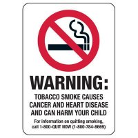 MD Smoke-Free Workplace Law Signs - Warning Tobacco Smoke
