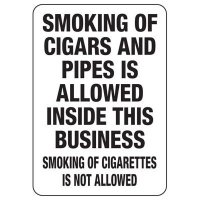 Nebraska Smoke-Free Workplace Law Signs - Smoking Of Cigars