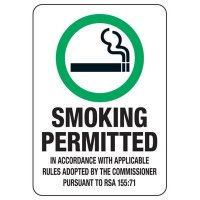 NH Smoke-Free Workplace Law Signs - Smoking Permitted