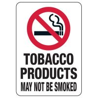 Utah Smoke-Free Workplace Law Signs - Tobacco Products