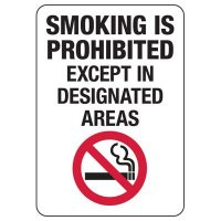 California Smoking Is Prohibited Sign