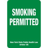 New York Smoking Permitted Sign