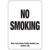 New York No Smoking Sign