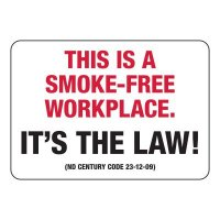 North Dakota Smoke-Free Workplace Sign