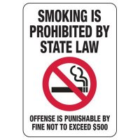 Texas Smoking Is Prohibited Sign